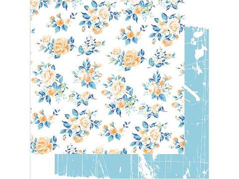 Floral patterned paper for DIY scrapbooking