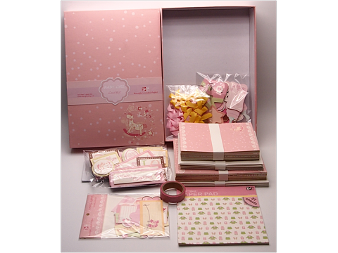 Pink Baby Girl Printable Scrapbook Kits For Art Crafting
