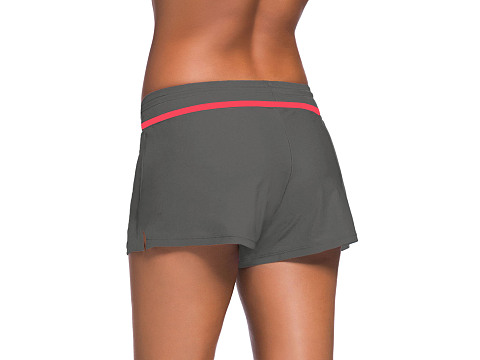 Red Trim Taupe Women Swim Boardshort sale online