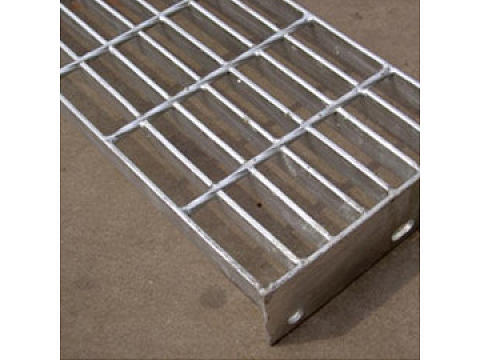 Hot-dipped galvanized platform steel grille