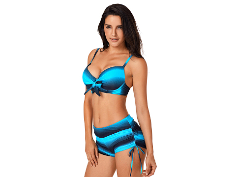Blue Black Ombre Shading Push Up Bikini and Boardshort sale online