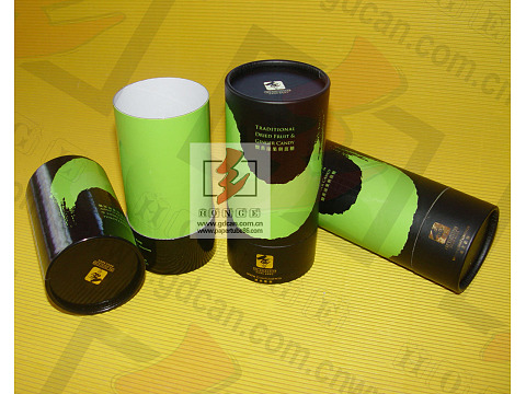 Gold logo stamping custom size paper tube for tea packaging with lid