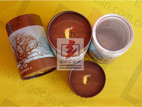 Customized paper cylinder shaped essential oil paper gift box packaging