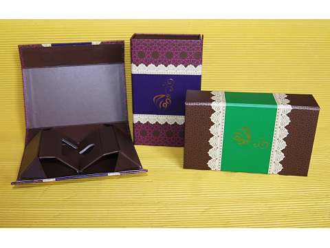 Square Recycled Paper Gift Boxe For Food , Gift , Bath Bead Packaging