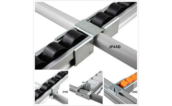 roller track flow rail with plastic wheel - industrial